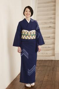 縫締め絞りナスカ(紺)